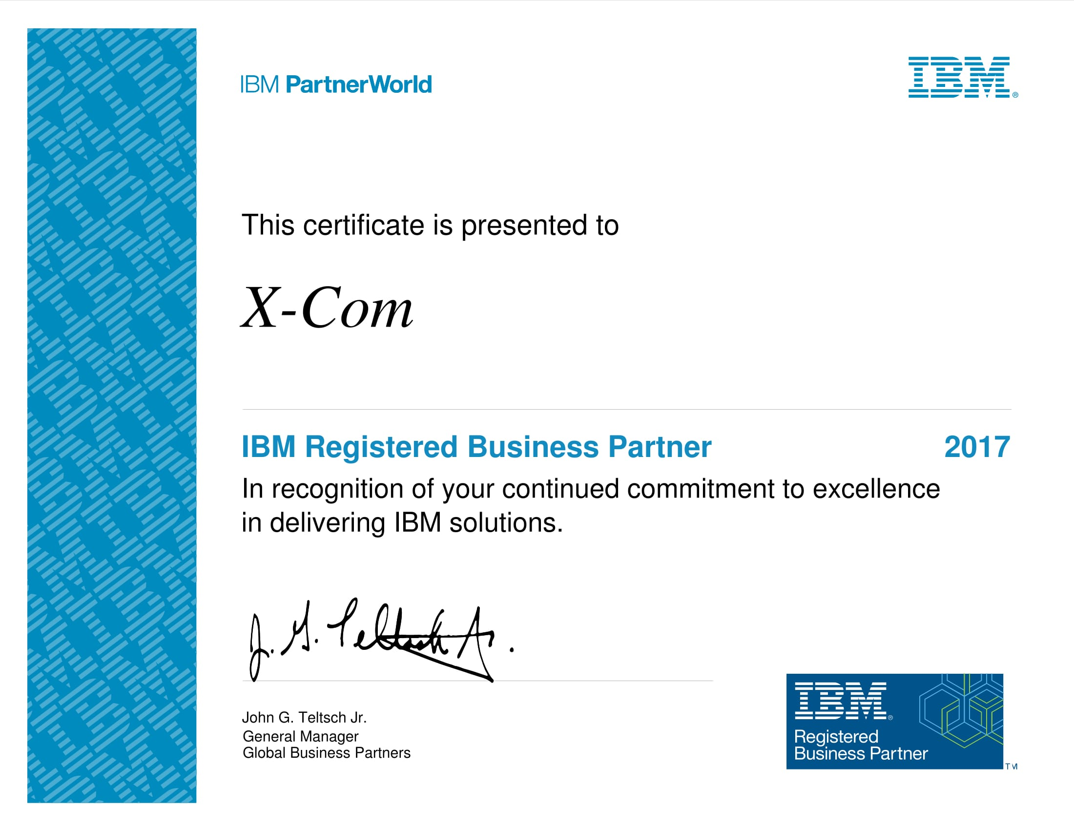X-Com - Registered Business Partner компании IBM